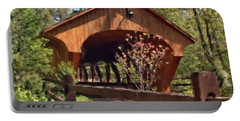 Covered Bridge At Olmsted Falls-spring Portable Battery Charger