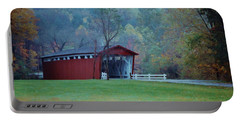 Covered Bridge Portable Battery Charger by Diane Alexander