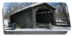 Covered Bridge In Winter Portable Battery Charger