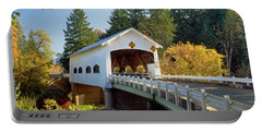 Covered Bridge Over A River, Rochester Portable Battery Charger
