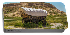 Portable Battery Charger featuring the photograph Covered Wagon At Scotts Bluff National Monument by Sue Smith