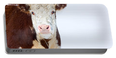 Cow - Fine Art Photography Print Portable Battery Charger