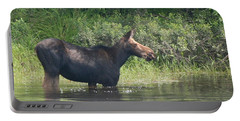 Cow Moose Breakfast Portable Battery Charger