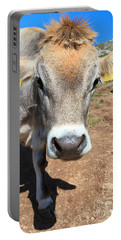 Cow On Alpine Pasture Portable Battery Charger