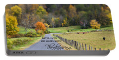 Cow Pasture With Scripture Portable Battery Charger