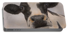 Cow Portrait I Portable Battery Charger