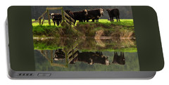 Cow Reflections Portable Battery Charger