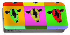 Cow Pop Art Portable Battery Charger