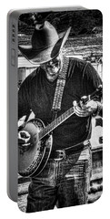 Cowboy And The Banjo Portable Battery Charger