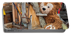 Portable Battery Charger featuring the photograph Cowboy Bear by Thomas Woolworth