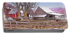 Cows At Jenne Farm Portable Battery Charger by Nancy Griswold