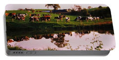 Cows In The Canal Portable Battery Charger