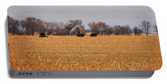 Cows In The Corn Portable Battery Charger by Mary Carol Story
