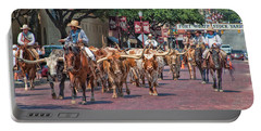 Cowtown Cattle Drive Portable Battery Charger
