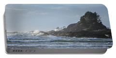 Cox Bay Afternoon Waves Portable Battery Charger