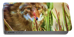 Coyote In The Aloe Portable Battery Charger