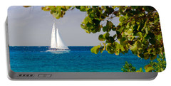 Cozumel Sailboat Portable Battery Charger by Mitchell R Grosky