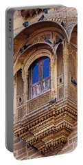 Cozy Ornate Balcony Window Jaisalmer Fort Rajasthan India Portable Battery Charger