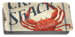 Crab Shack Portable Battery Charger by Debbie DeWitt