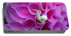 Crab Spider And Dahlia Portable Battery Charger