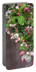 Crabapple Blossoms And Wall Portable Battery Charger