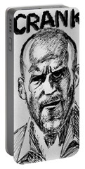 Portable Battery Charger featuring the painting Jason Statham by Salman Ravish