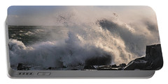 Crashing Surf Portable Battery Charger by Marty Saccone