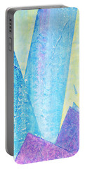 Crashing Waves And Rocks Portable Battery Charger by Asha Carolyn Young