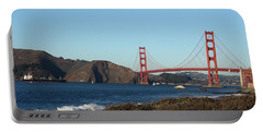 Crashing Waves And The Golden Gate Bridge Portable Battery Charger