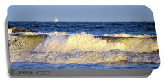 Crashing Waves And White Sails Portable Battery Charger