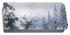 Crater Lake National Park In June Portable Battery Charger