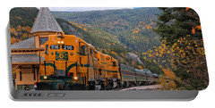 Crawford Notch Train Depot Portable Battery Charger by Adam Jewell