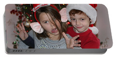 Crazy Christmas Portable Battery Charger by Denise Romano