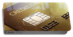 Credit Card Macro - 3d Graphic Portable Battery Charger