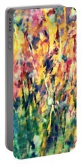 Crescendo Of Spring Abstract Portable Battery Charger
