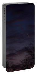 Crescent Moon And Venus Rising Portable Battery Charger