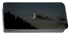 Portable Battery Charger featuring the photograph Crescent Silhouette by Jeremy Rhoades