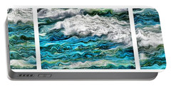Cresting Waves Portable Battery Charger by Michelle Calkins