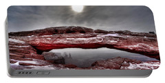 Portable Battery Charger featuring the photograph Crimson Arch by David Andersen
