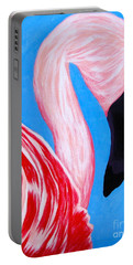 Crimson Flamingo Portable Battery Charger by Anita Lewis