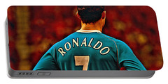 Cristiano Ronaldo Poster Art Portable Battery Charger