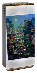 Portable Battery Charger featuring the photograph Crookedest Street In The World by Jay Milo