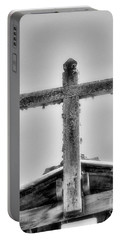 Cross At Mission Soledad By Diana Sainz Portable Battery Charger