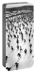 Cross Country Ski Race Portable Battery Charger