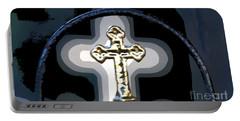 Portable Battery Charger featuring the photograph Cross On Lacombe Louisiana Cemetery by Luana K Perez