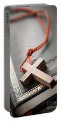 Cross On Bible Portable Battery Charger
