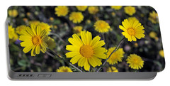 Crown Daisies Portable Battery Charger by George Atsametakis