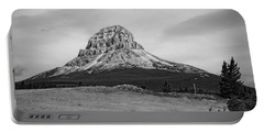 Crowsnest Mountain Black And White Portable Battery Charger