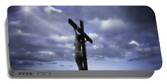 Crucifix In The Light Portable Battery Charger