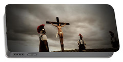 Crucifixion Scene Of Roman Movie Portable Battery Charger